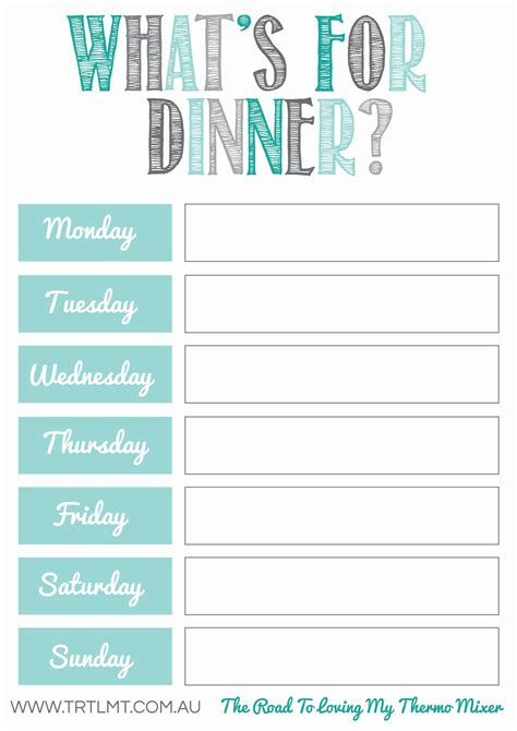 monthly meal calendar template printable menu planner famous drawing