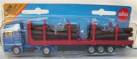 Siku 1659 Log Transporter models siku diecast model 1659 truck trailer log transporter 1 87 ho railway scale new