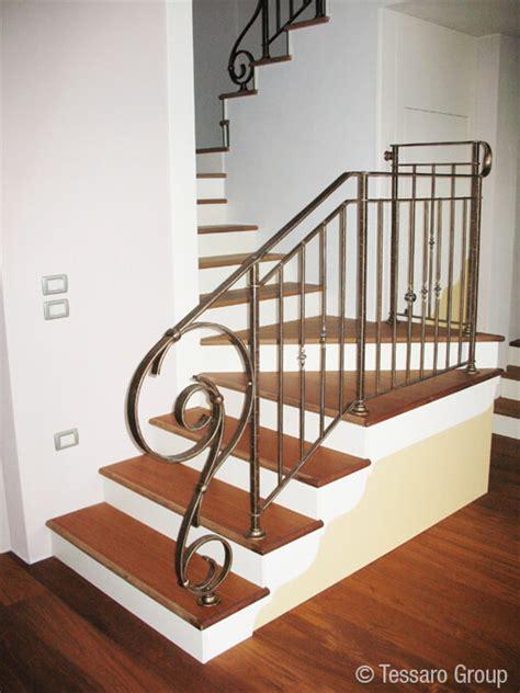 corrimano in ferro battuto per scale tessaro ringhiere per scale interne