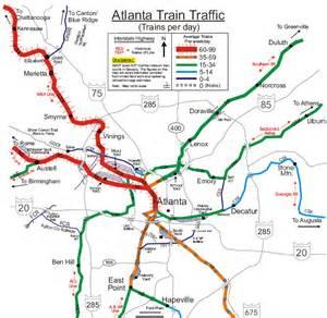 Atlanta Traffic Map by Mapping Atlanta S Train Traffic Panethos