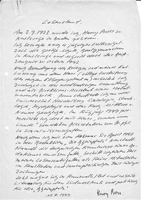 Lebenslauf Muster Handschriftlich Handschriftlicher Lebenslauf Lebenslauf