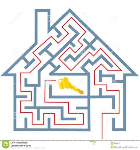 maze house maze real estate home puzzle solution to