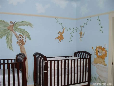 baby wall murals jungle wall murals exles of jungle theme murals