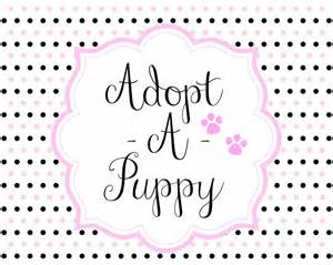 adopt a puppy for free free adopt a puppy printable set free puppyparty puppy
