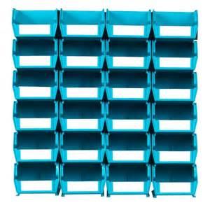 Wall Storage Bins Triton Products Locbin Small Wall Storage Bin 24 Piece