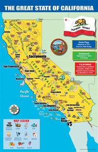 california state map chart 11 quot x 17 quot 020945 details