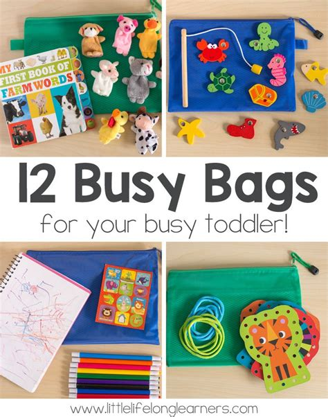 story themes for 6 year olds 12 busy bags for toddlers time activities busy bags and