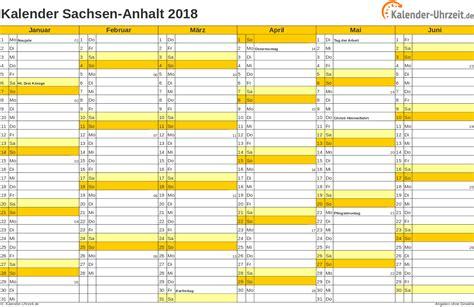Kalender 2018 Ausdrucken Sachsen Anhalt Feiertage 2018 Sachsen Anhalt Kalender