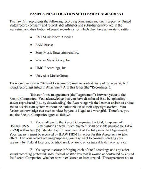 12 Sle Settlement Agreements Sle Templates Settlement Agreement Template