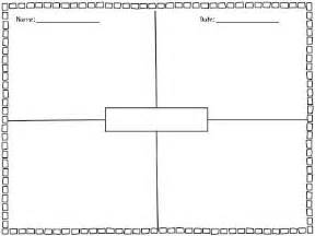 Blank Four Square Writing Template by Blank 4 Square Writing Template The Whole Family Did This