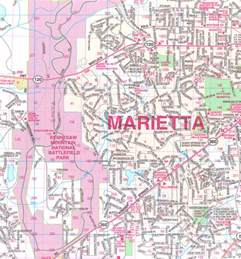 marietta wall map up