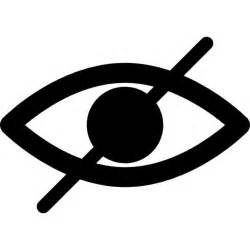 Blind Symbol Blind Symbol Of An Opened Eye With A Slash Icons Free