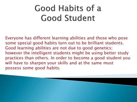 How To Be A Student habits of a student authorstream