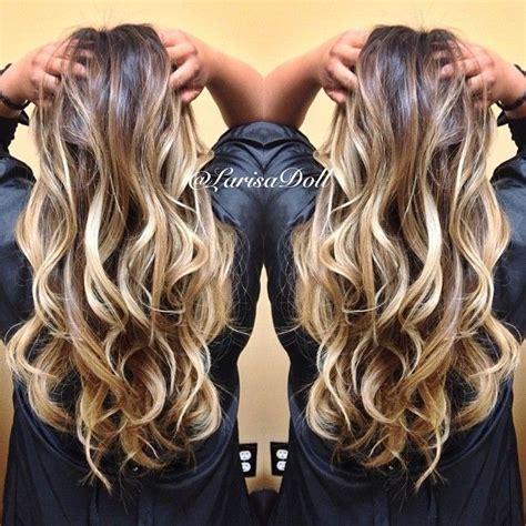 dark blonde with light blonde highlights no filter dark warm brown base ombre d to light beige