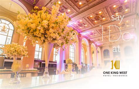 wedding venues toronto one king west hotel residence