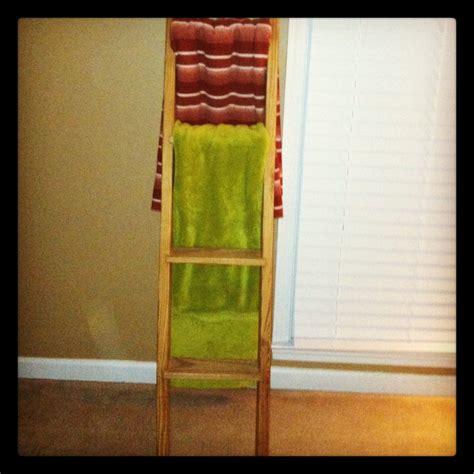 diy bunk bed ladder bunk bed ladder turned blanket rack diy ideas