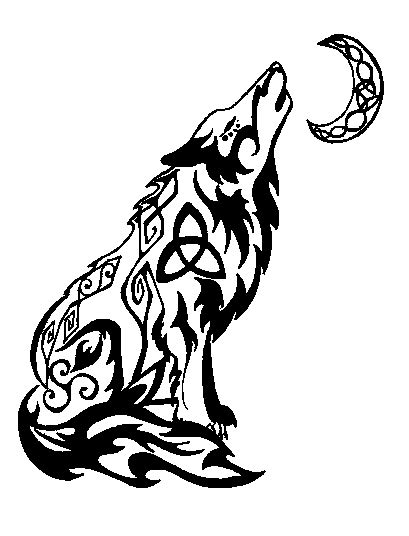 howling wolf tribal tattoo howling wolf tribal by valsharessa on deviantart