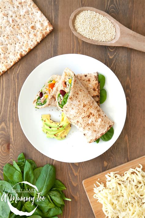 protein wraps spicy quinoa and bean protein wrap a mummy