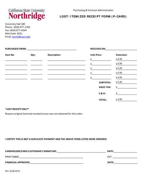 itemized template itemized receipt template 2 legalforms org