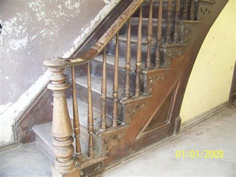 victorian banister original staircase antique walnut staircase still intact