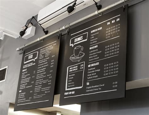 cafe menu boards design connors a thin place