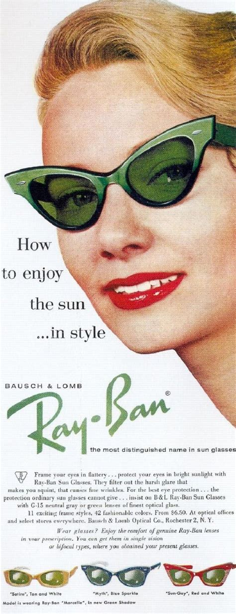 wandlen 40er 20 cool ray ban vintage and modern ads print poster and