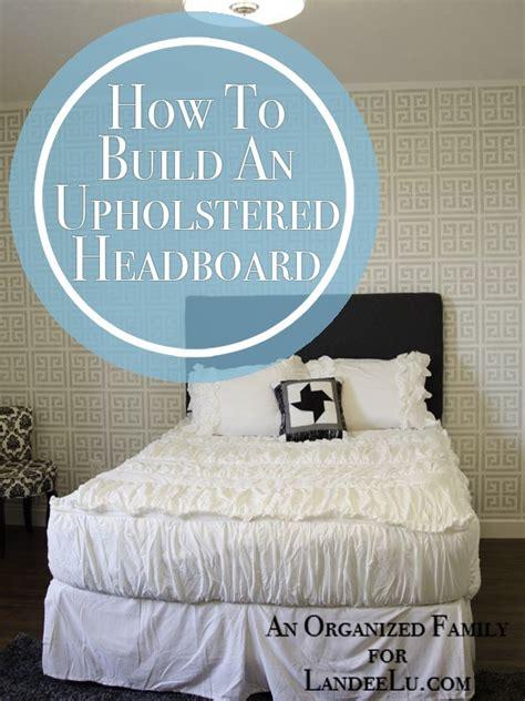 how to build and upholstered headboard landeelu