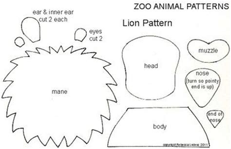 templates for zoo animals pin by carolyn myers on applique patterns pinterest
