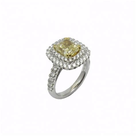 fancy yellow engagement rings fancy yellow radiant and halo engagement ring