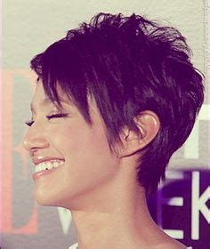 is a pixie haircut cut on the diagonal diagonal forward haircut on pinterest haircuts