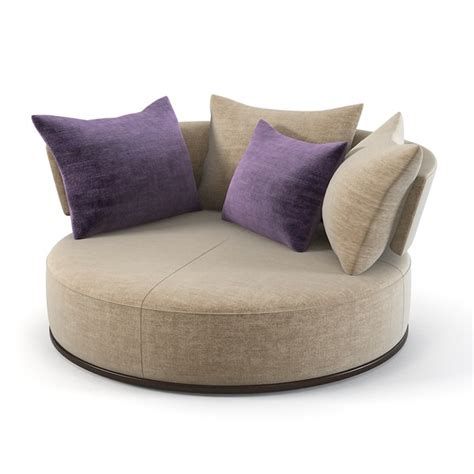 round spinning couch 3ds max maxalto sofa rounfd