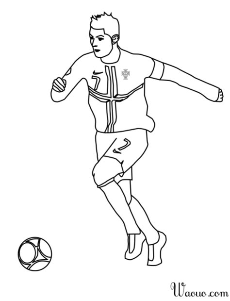 Dessin De Foot De Ronaldo | coloriage cristiano ronaldo foot 224 imprimer et colorier