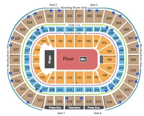 united center floor plan united center tickets in chicago illinois united center seating charts events and schedule