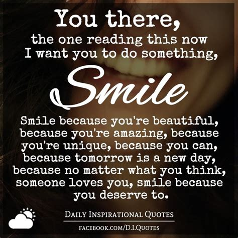 Smile There you there the one reading this now i want you to do