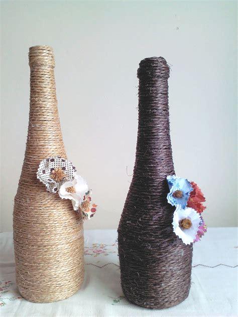 garrafas decoradas sisal garrafas decoradas sisal toke capricho elo7