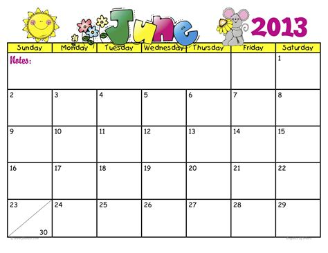 Calendar June 2013 January 2013 Calender Just B Cause