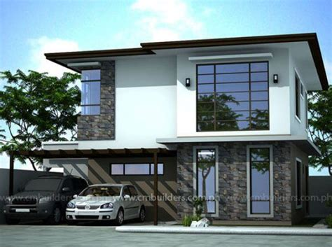 zen homes modern zen cm builders inc philippines home ideas