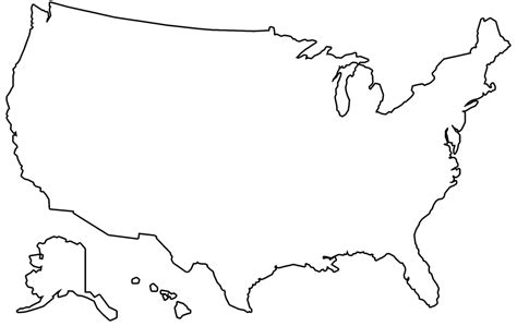 America Map Outline Printable by Free Illustration Us Map Outline Us Map America Free Image On Pixabay 1674031