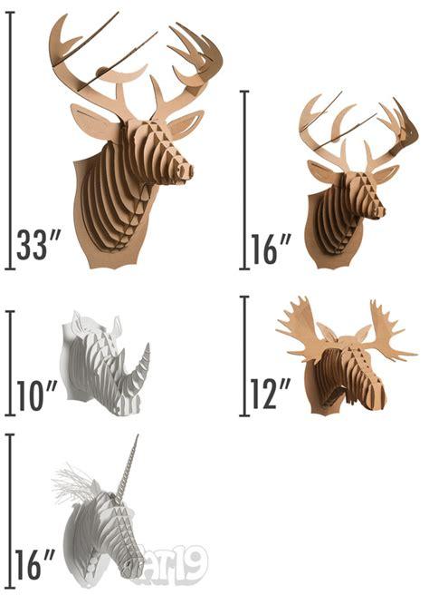3d cardboard animals template cardboard safari animals diy wall trophy made from