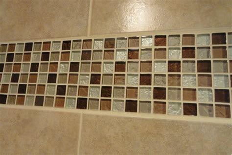 decorative tile accents bathroom accent tile idea brown glass mosaic bathroom green ideas