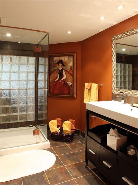 burnt orange walls with espresso cabinets color my world cabinets espresso