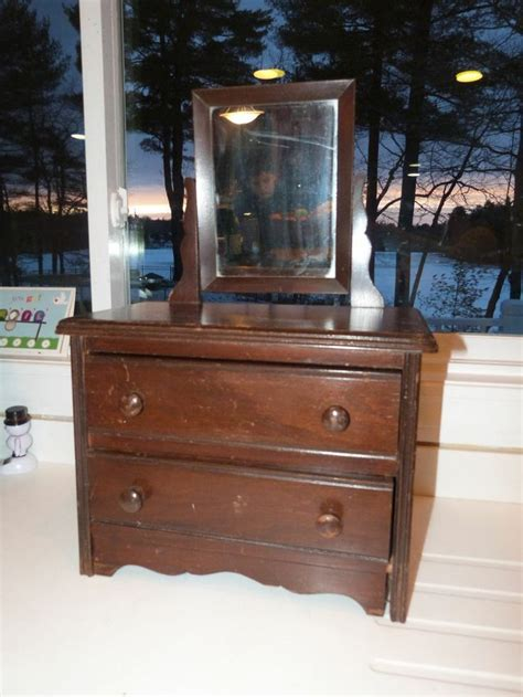 Handmade Dresser - vintage doll antique wooden handmade doll 2 drawer dresser