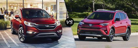 Compare Honda Crv To Toyota Rav4 Honda Cr V Vs Toyota Rav4