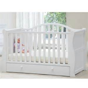 White Sleigh Cot Bed Babylo Sleigh Cot Bed White From Babylo Part Of The Cot Beds Range Available At Preciouslittleone