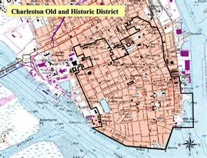 map historic district charleston and historic district
