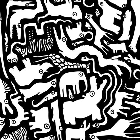 black and white animal pattern kids art cool kids art