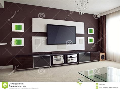 Tv Lcd Home Theater modern home theater room interior with flat screen tv stock photo image 53809398