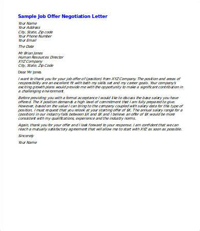 salary negotiation letter 4 free word documents