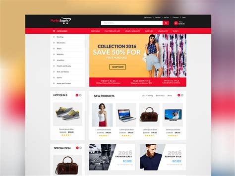ecommerce site template 30 newest free website templates for 2017