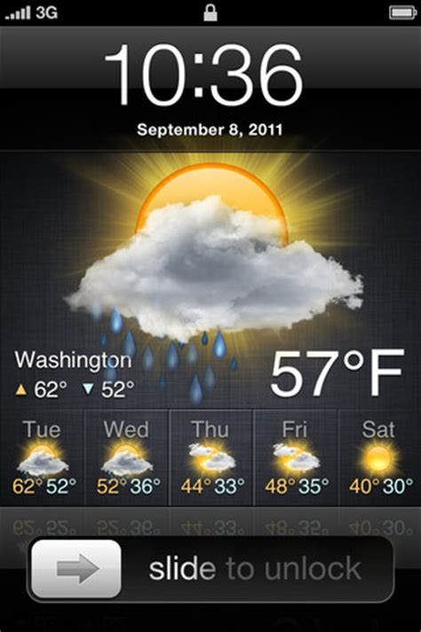 lock screen weather app adds weather   iphone lock screen imore